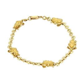 Carrera y Carrera 18kt Yellow Gold 5 Frogs Chain Link Bracelet