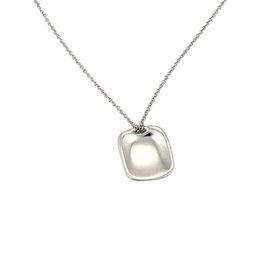 Tiffany & Co. Elsa Peretti Spain Platinum ID Tag Pendant Necklace