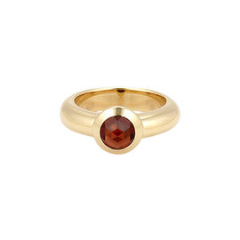 Tiffany & Co. France 18K Yellow Gold Bullet Shape Garnet Solitaire Ring