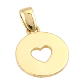 Cartier 18K Yellow Gold Circular Heart Designer Pendant