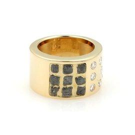 Cartier 18K Yellow Gold Diamond Band Ring