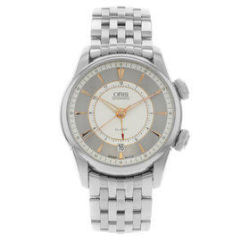 Oris Artelier Alarm 01 908 7607 4051-Set-MB Stainless Steel Automatic Mens Watch