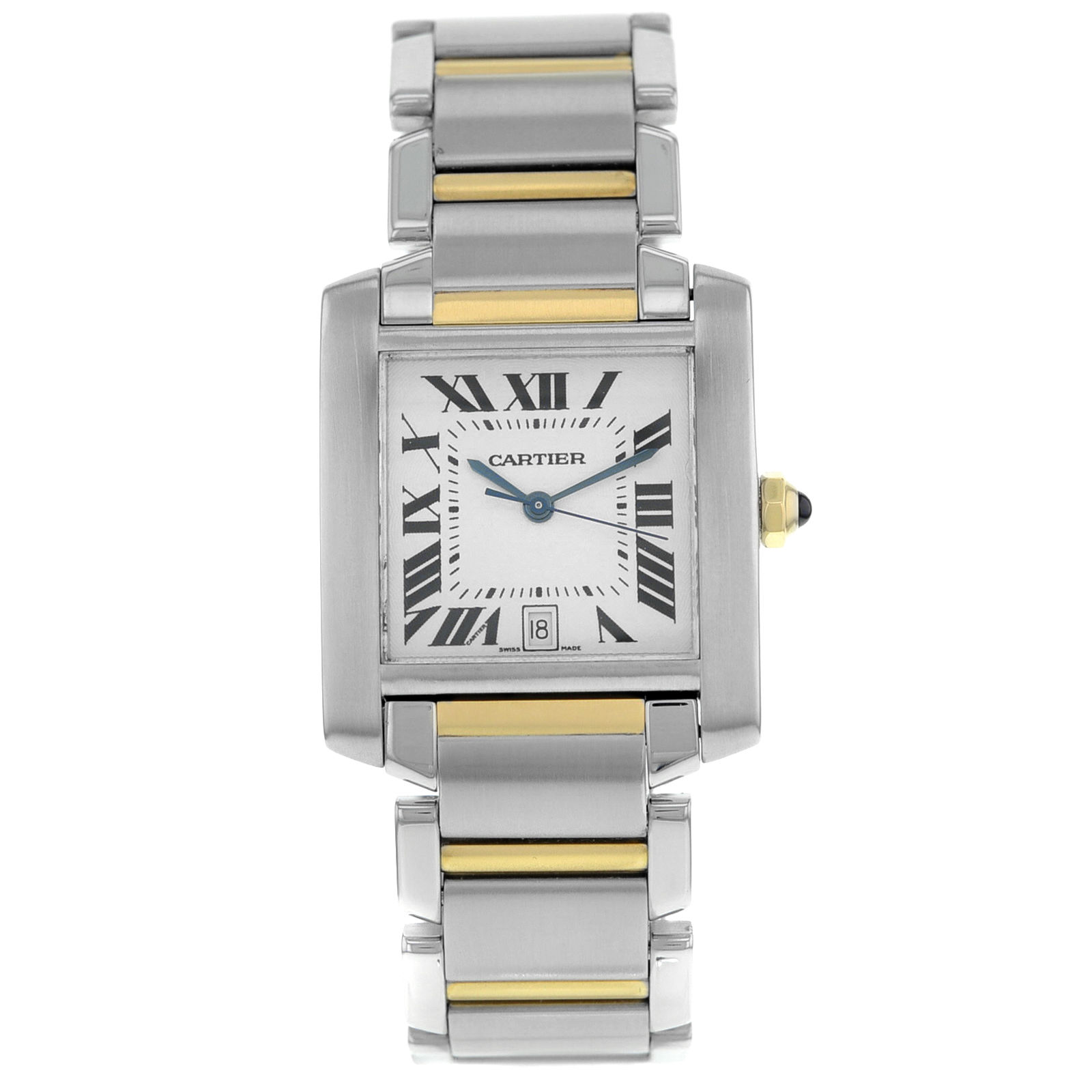 "Image of ""Cartier Tank Francaise W51005Q4 Steel And Gold Automatic Men's Watch"""