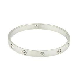 Cartier Love Bracelet White Gold Size 21