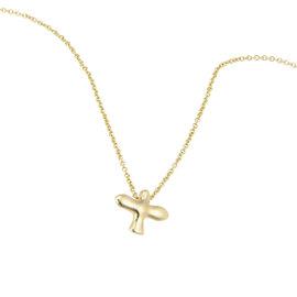 Tiffany & Co. 18K Yellow Gold Dove Cross Pendant Necklace