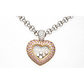 Chopard 5 Happy Diamond Heart 18K Gold Pendant Necklace