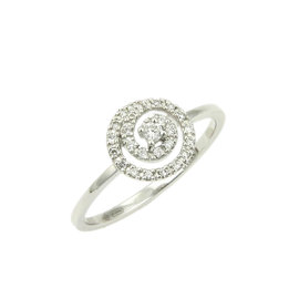 Damiani Bliss 'Yo-Yo' 18K White Gold & Diamond Cocktail Ring