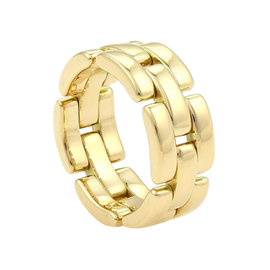 Cartier Maillon Panthere 18K Yellow Gold Flex Band Ring
