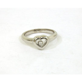 Chopard 18K White gold Happy Diamond Heart Band Ring