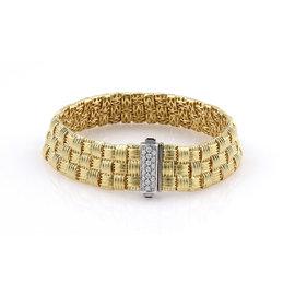 Roberto Coin 18K Yellow Gold Diamond Appassionata Woven Bracelet