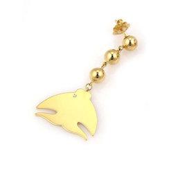 Pasquale Bruni LE MONDE 18k Gold Fish Single Diamond Earrings