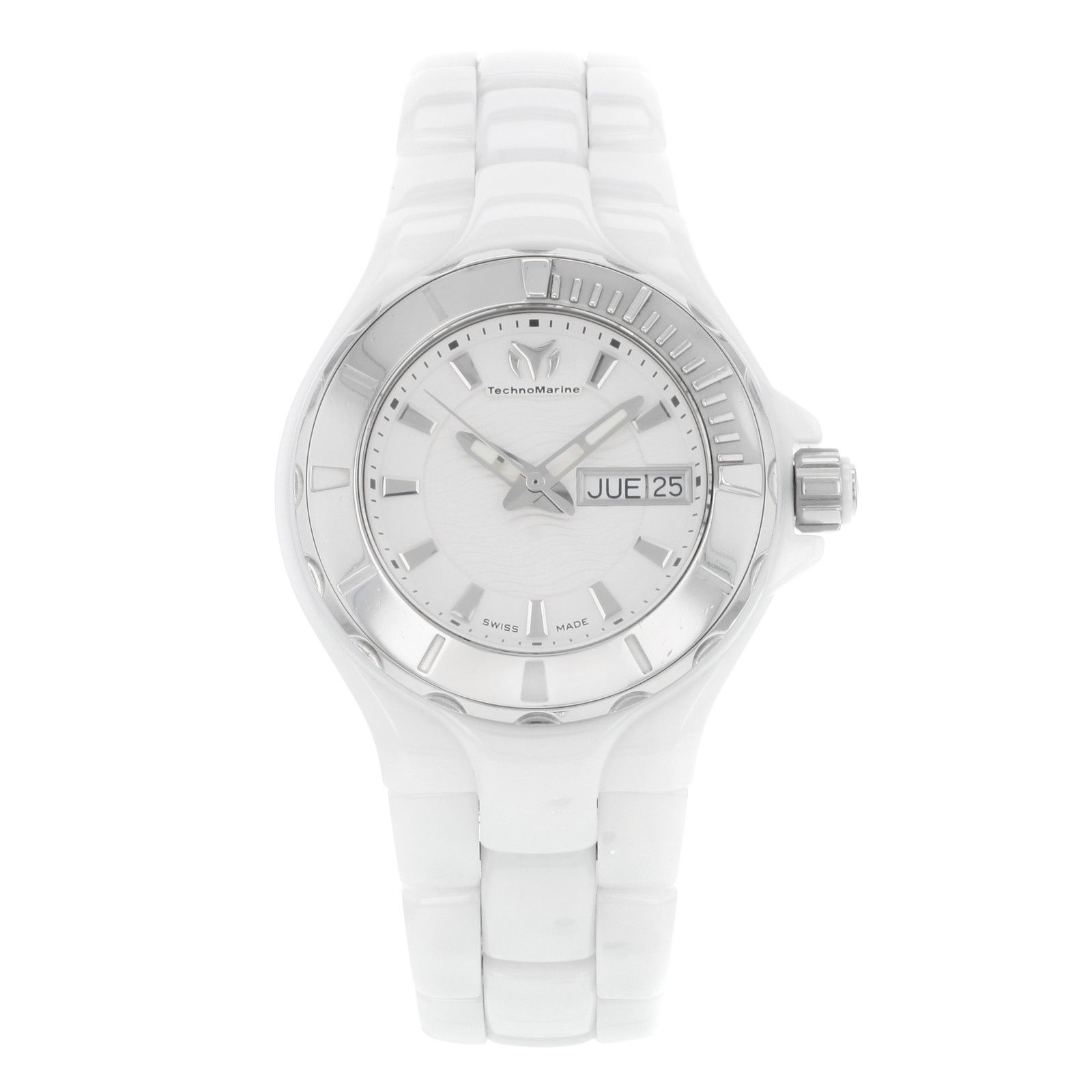 "Image of ""Technomarine Cruise 110022C Ceramic & Steel Quartz Ladies Watch"""