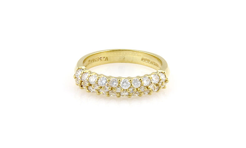 "Image of ""Jose Hess 18K Yellow Gold 2 Row Diamond Ring"""