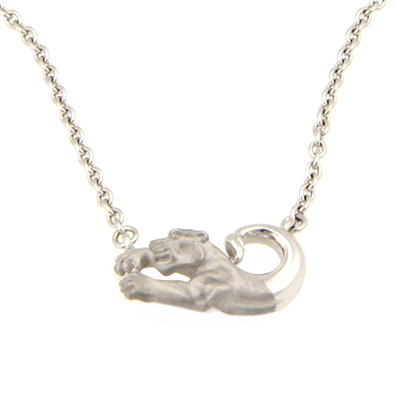 "Image of ""Carrera y Carrera 18K White Gold Panther Pendant Necklace"""