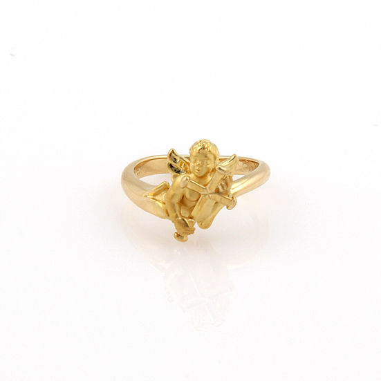 "Image of ""Carrera y Carrera 18K Yellow Gold Baby Angel Designer Ring"""