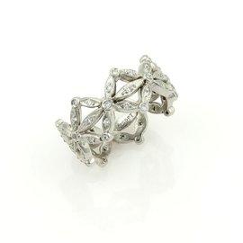 Cathy Waterman Floral Crown Design Diamond Platinum Ring Size 5.25