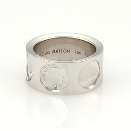 Louis Vuitton 18K White Gold Ring Size EU 52-US 6.5