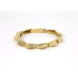Lagos Solid 14K Yellow Gold Ladies Stylish Wave Motif Bracelet
