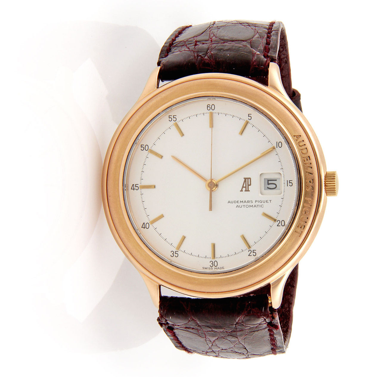 "Image of ""Audemars Piguet 18K Rose Gold Dress Watch"""