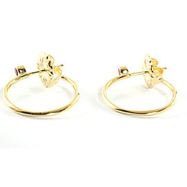 Ippolita 18K Yellow Gold Pink Sapphire Hoop Earrings