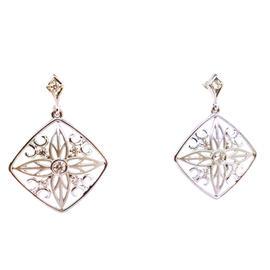 Hearts On Fire 18k White Gold Diamond Drop Earrings