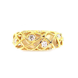Hearts On Fire Gold & Diamonds Brocade Ladies Band Ring