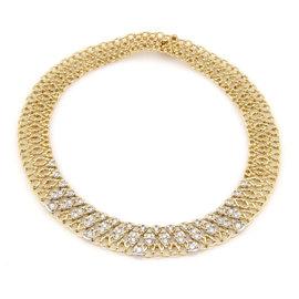 Garavelli 18K Yellow Gold Diamond Necklace