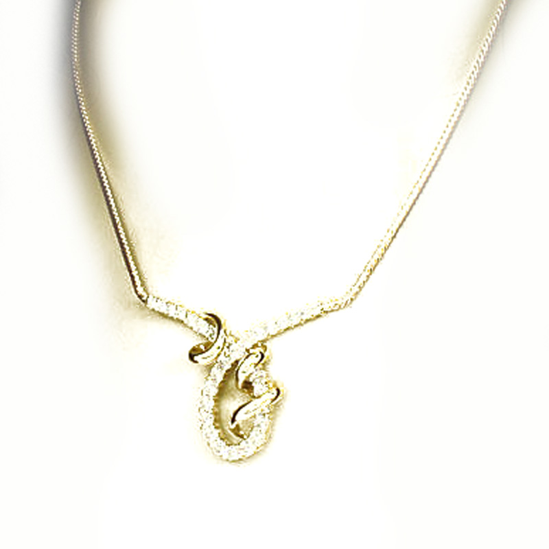 "Image of ""Jose Hess 14K Yellow Gold Diamond Necklace"""