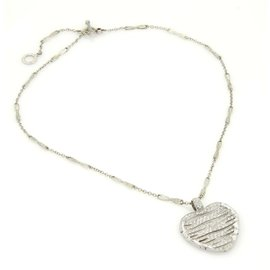 Roberto Coin Elefantino 18k White Gold & Diamonds Heart Toggle Necklace