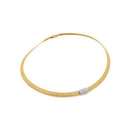 Roberto Coin Diamonds 18k Two Tone Gold Collar Necklace
