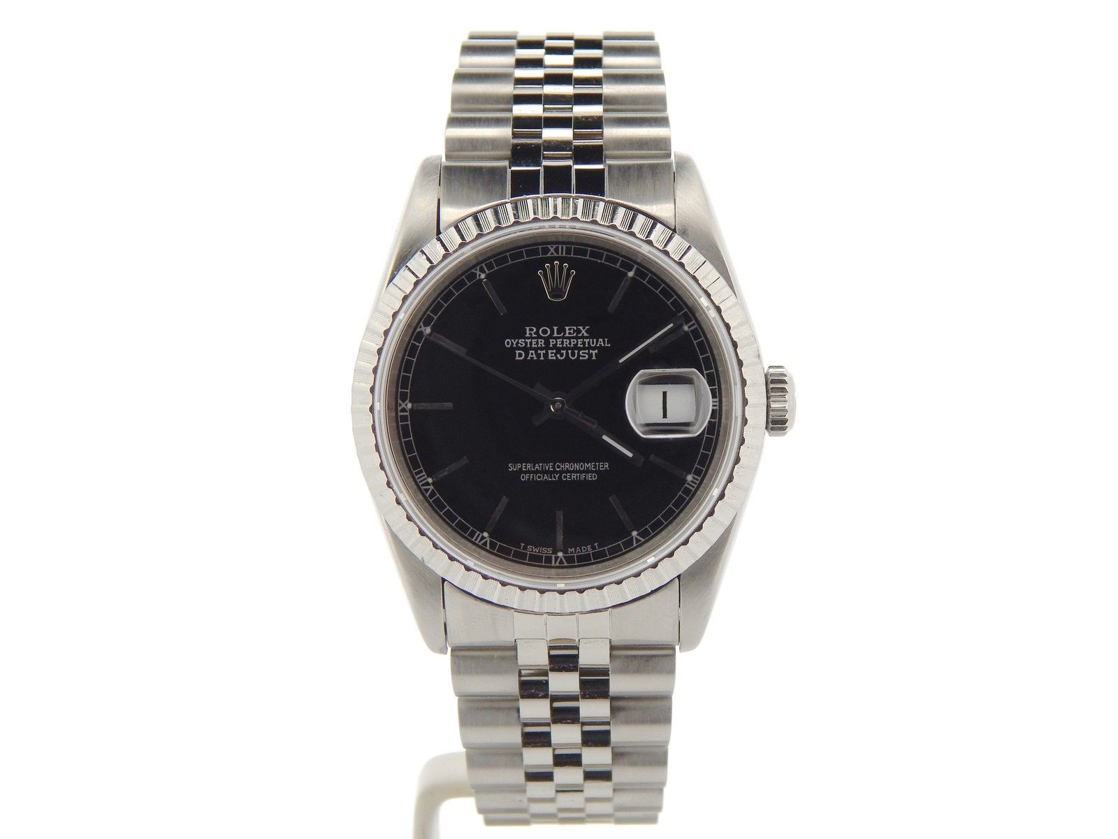 "Image of ""Rolex Datejust Quickset 16220 Stainless Steel w/Sapphire Crystal"""