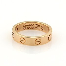 Cartier Love Ring R/G 1 Dia Size 4
