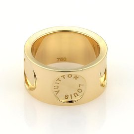Louis Vuitton 18K Yellow Gold Band Ring