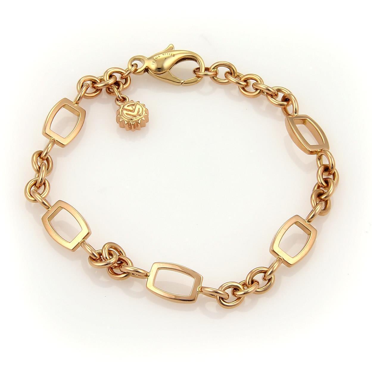 """Image of """"Franck Muller 18K Rose Gold Talisman Geometric Chain Link Bracelet"""""""