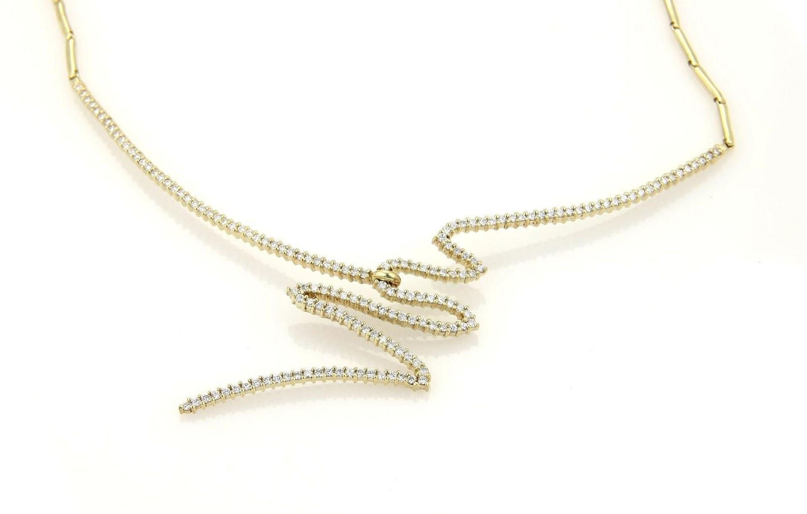 "Image of ""Jose Hess 14K Yellow Gold Diamonds Necklace"""