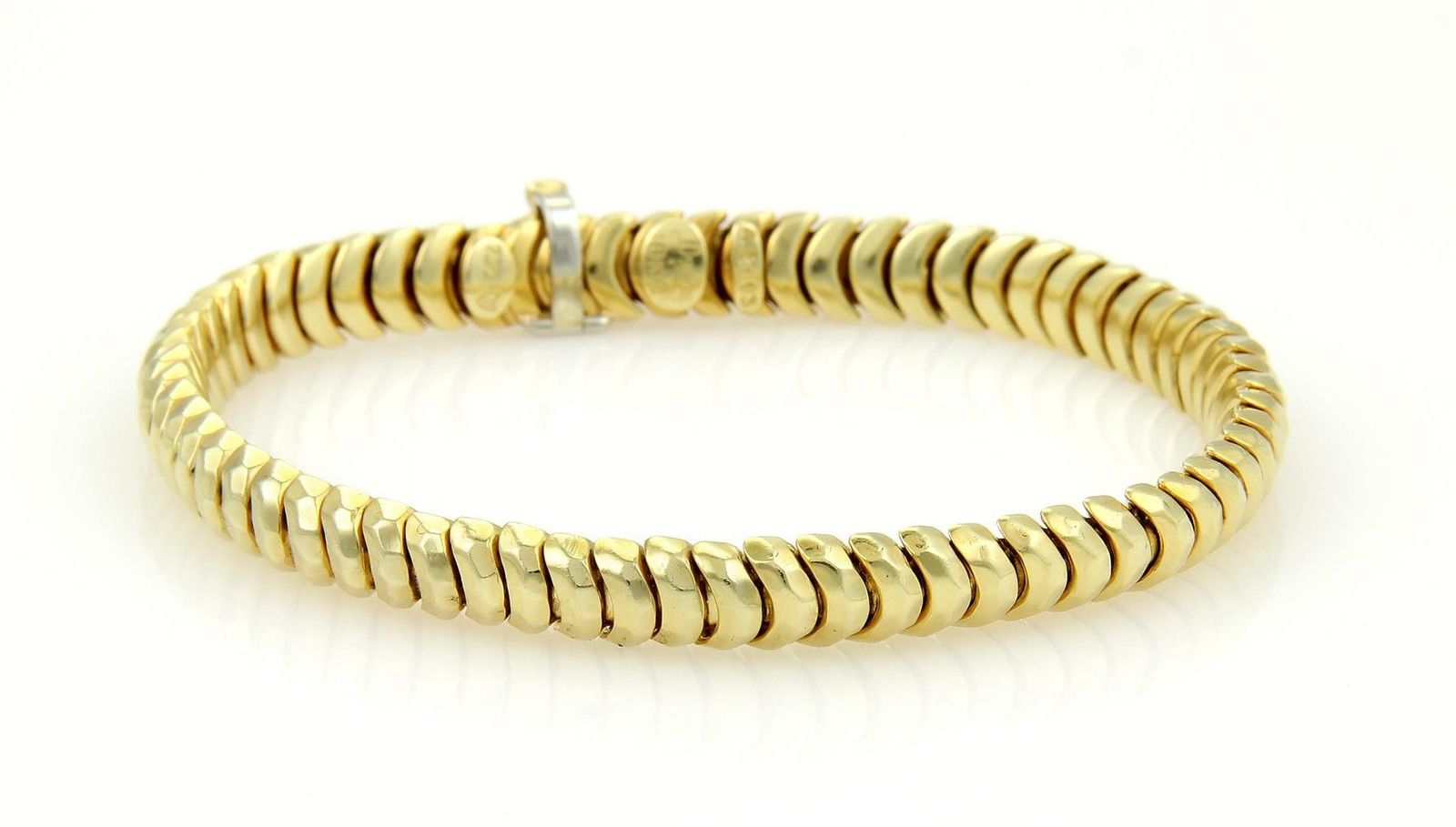 "Image of ""Henry Dunay 18K Yellow Gold Curve Link Bracelet"""