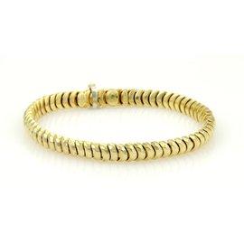 Henry Dunay 18K Yellow Gold Curve Link Bracelet