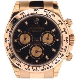 Rolex 116505 18K Rose Gold Everose Cosmograph Daytona Watch Black Mens Watch