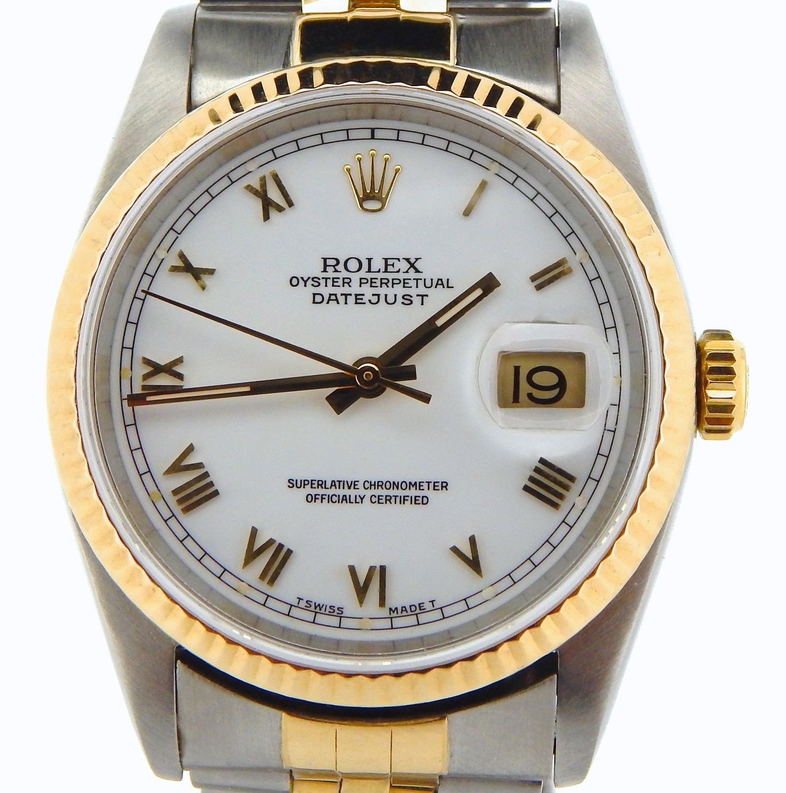 "Image of ""Rolex 16233 2Tone 18K Gold/Stainless Steel Datejust Jubilee White"""