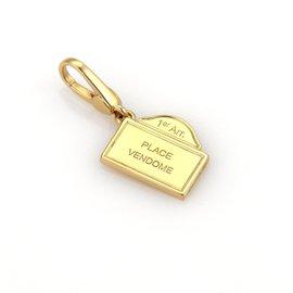 Bulgari 18K Yellow Gold Vendome Charm Pendant