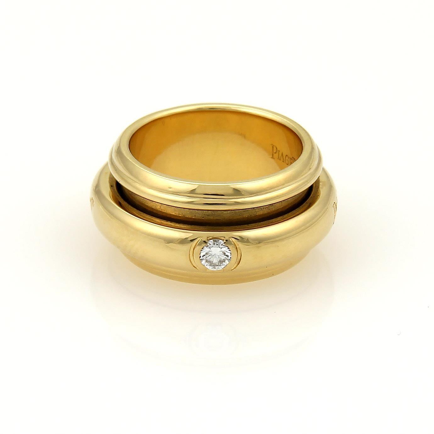 "Image of ""Piaget 18K Yellow Gold Diamond Spinner Band Ring"""