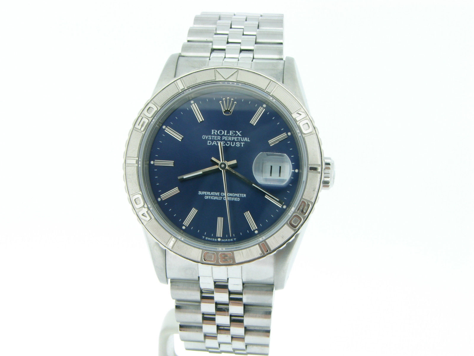 "Image of ""Rolex 16264 Datejust Stainless Steel Thunderbird Turn-O-Graph Jubilee"""