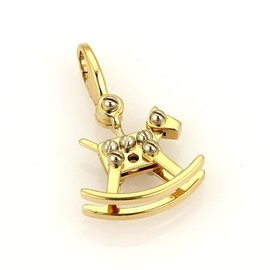 Cartier 18K Two Tone Gold Rocking Horse Charm Pendant