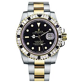 Rolex Submariner 116613BKDO Diamond Bezel Automatic Mens Watch