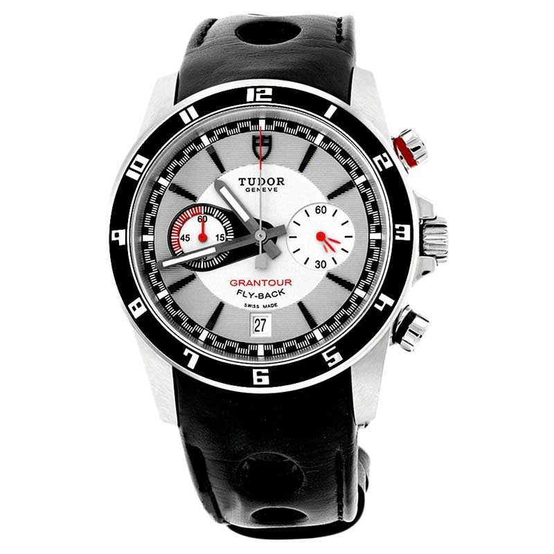 "Image of ""Tudor 20550N Grantour Chronograph Fly-Back Black Lacquered Steel Bezel"""