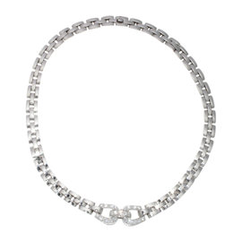 Cartier 18K White Gold & Diamond Panther Necklace