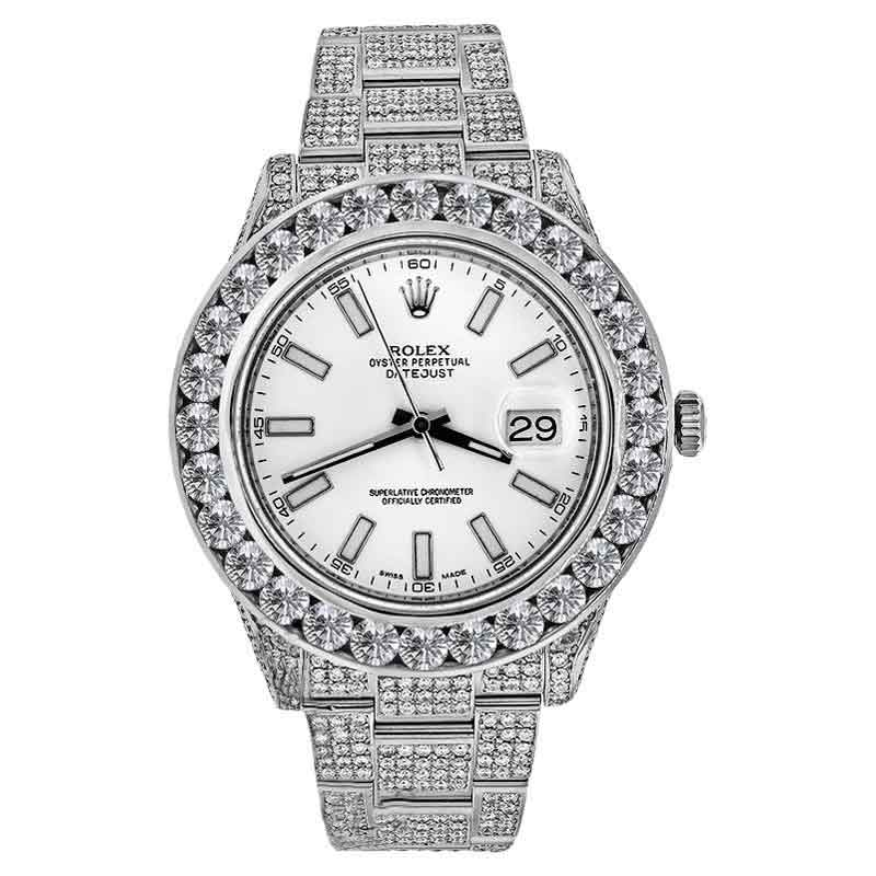 "Image of ""Rolex Datejust II Diamond 30.00Ct. 41mm Stainless Steel 116300 White"""