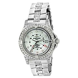 Breitling Colt A32350 Mother Of Pearl Dial Automatic Steel Watch