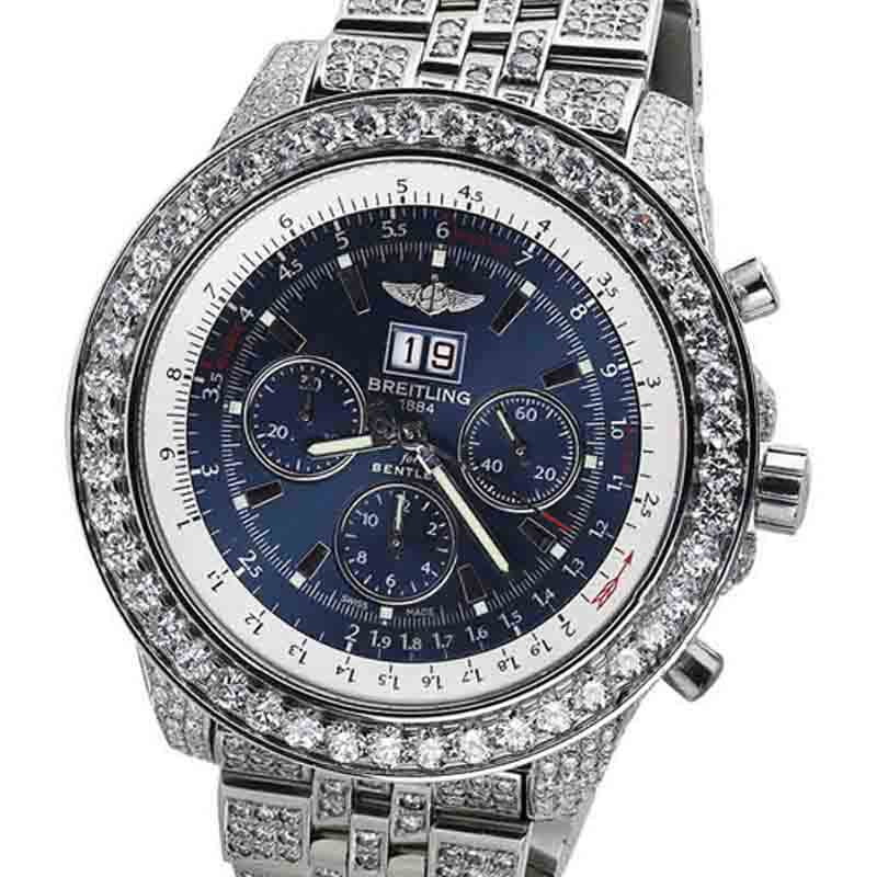 "Image of ""Breitling Bentley A44362 Neptune Blue Stainless Dial Jubilee Diamond"""