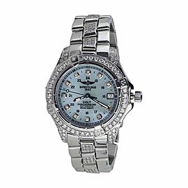 Breitling Aeromarine Colt Automatic A17350 Diamonds Watch